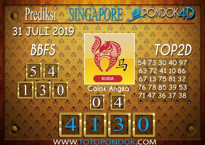 Prediksi Togel SINGAPORE PONDOK4D 31 JULI 2019