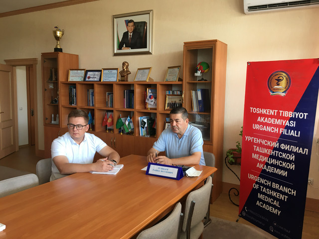 A meeting was held between Ankara Medipol University in Turkey and  Urgench branch of TMA on cooperation issues