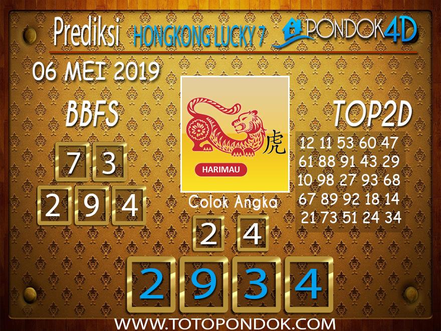 Prediksi Togel HONGKONG LUCKY 7 PONDOK4D 06 MEI 2019