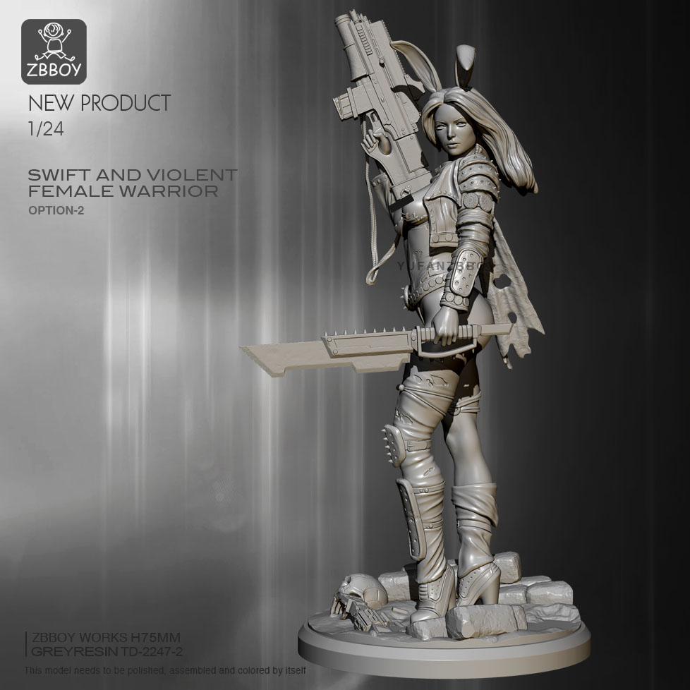 1//24 Gladiator Krieger mit Axt und Schild Soldat Scale Resin Figure