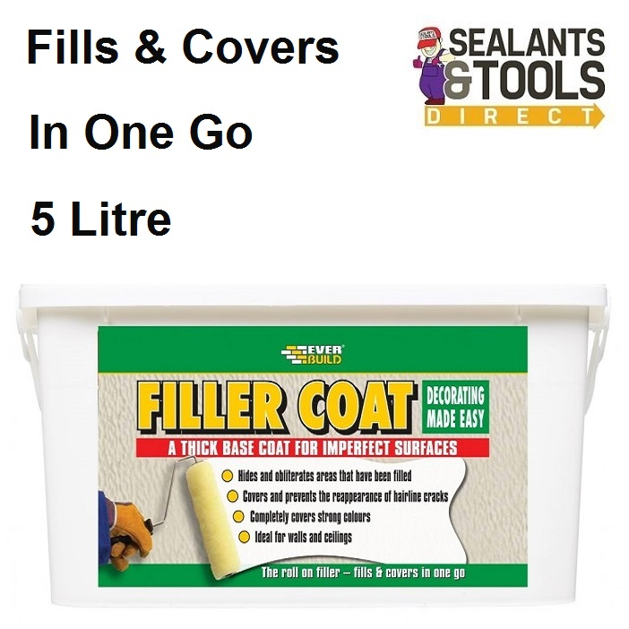 Everbuild Filler Coat Paint 5 Litre Fillercoat FILLCOAT5