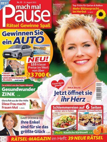 Cover: Mach mal Pause Magazin No 35 vom 25  August 2021