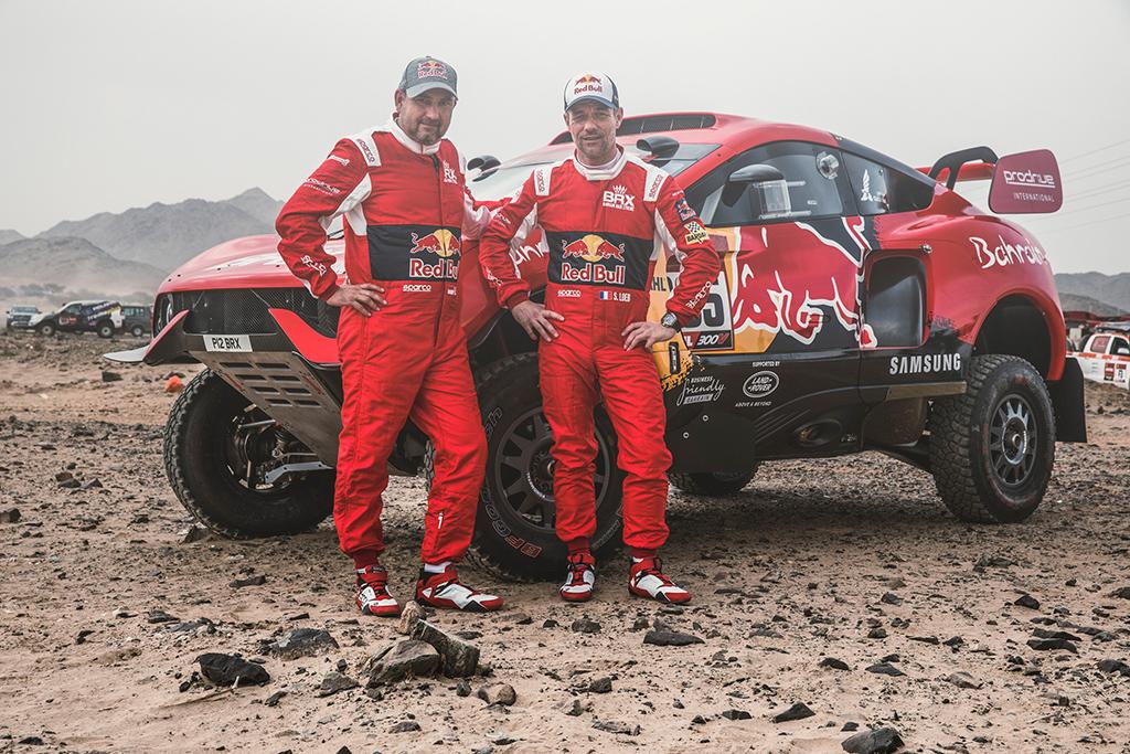 SEBASTIEN-LOEB-FRA-and-DANIEL-ELENA-MCO-for-Bahrain-Raid-XTreme-SSV-team-during-shakedown-of-Rally-D