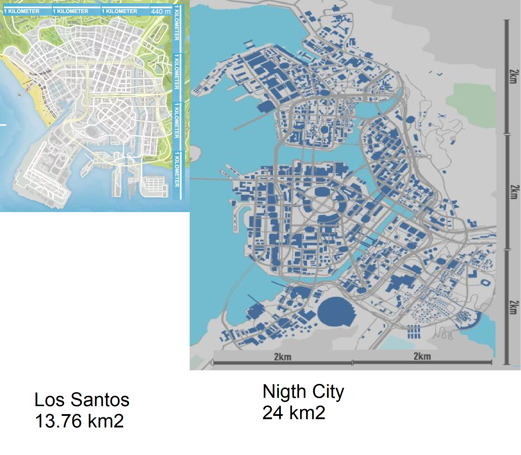 Image of: Here S How Cyberpunk 2077 Map Size Compares To That Of Gta V