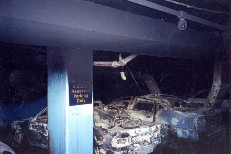 Fotos ineditas de limosinas blindadas en el estacionamiento