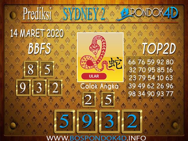 Prediksi Togel SYDNEY 2 PONDOK4D 14 MARET 2020