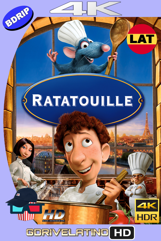 Ratatouille (2007) BDRIP 4K HDR Latin-Ingles MKV