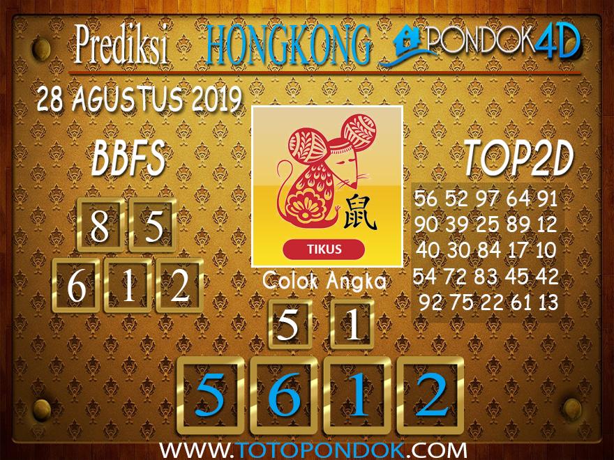 Prediksi Togel HONGKONG PONDOK4D 28 AGUSTUS 2019