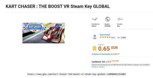 https www g2a com kart chaser the boost vr steam key global i10000041762002