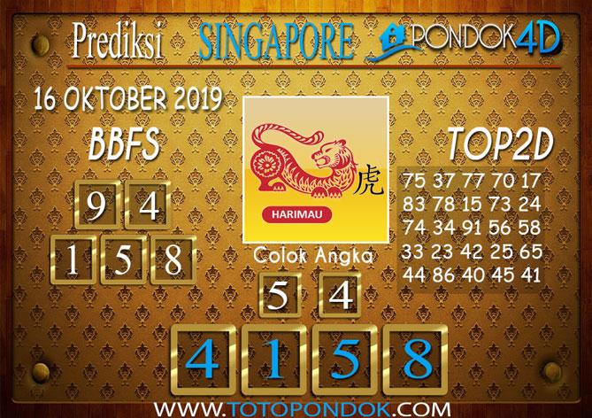 Prediksi Togel SINGAPORE PONDOK4D 16 OKTOBER 2019