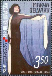 2003. year EUROPA-PLAKATNA-UMJETNOST-TOMISLAV-KRIZMAN-PLAKAT-MARYA-DELVARD-IZ-1907