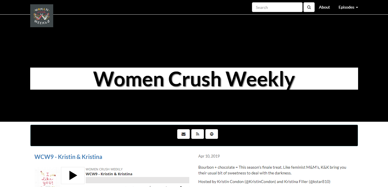 The Women Crush Weekly travel product recommended by Joshua Kelly on Pretty Progressive.