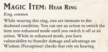 Hear Ring magic item preview