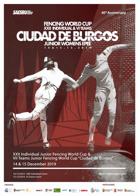 CARTEL-XXII-COPA-MUNDO-2019-fencing-saesbu-burgos-world-cup-womens-epee-2019-xxii