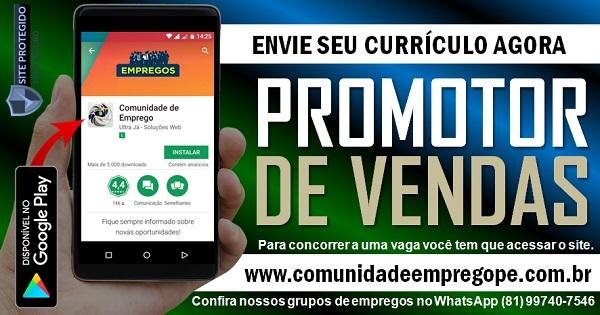 PROMOTOR DE VENDAS, 02 VAGAS E SALÁRIO R$ 1151,93 PARA EMPRESA DE LÁCTEOS