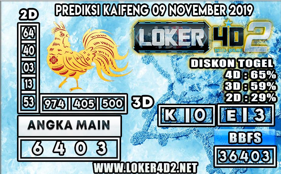 PREDIKSI TOGEL KAIFENG POOLS LOKER4D2 09 NOVEMBER 2019