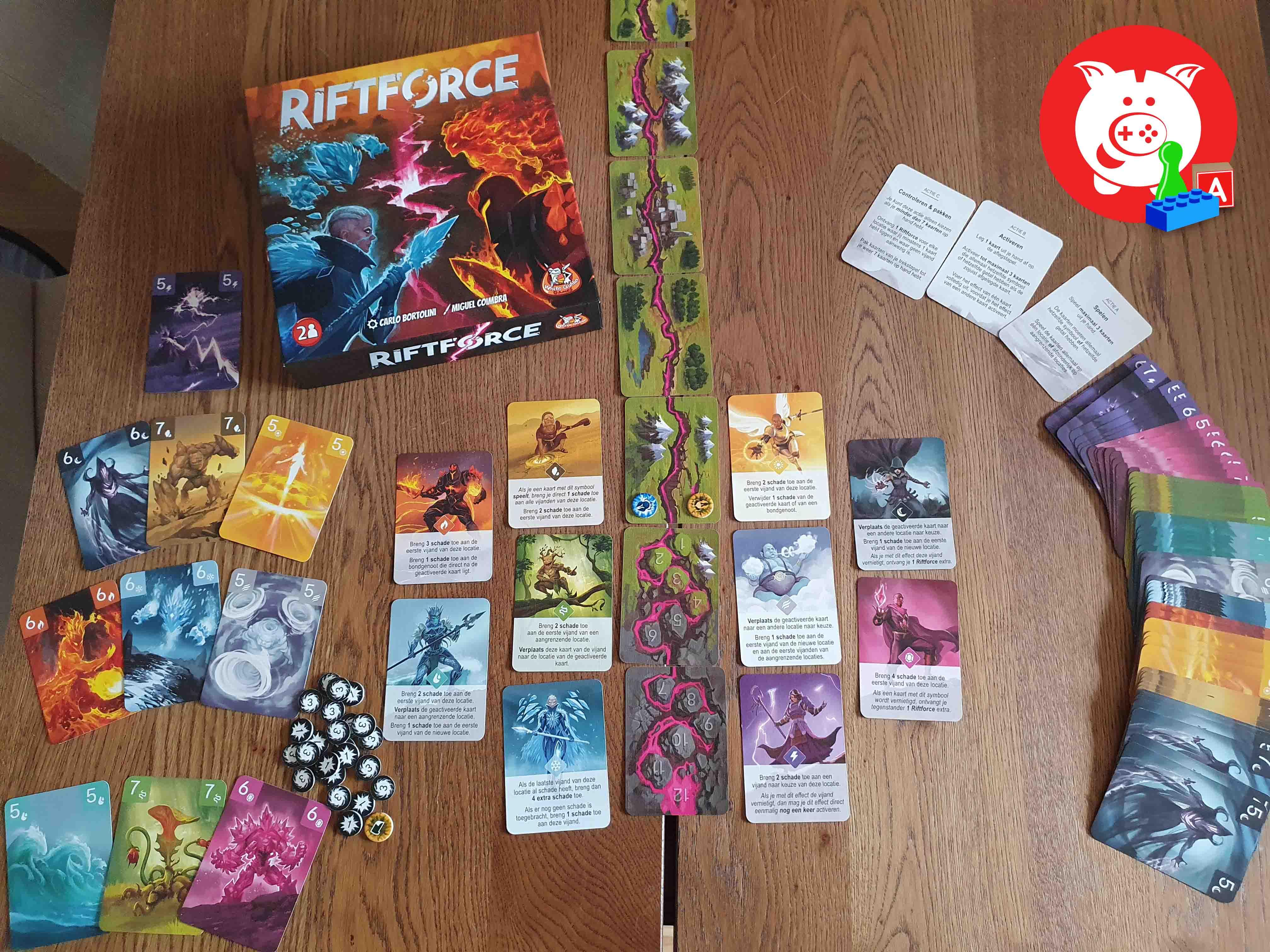 Inhoud doos Riftforce