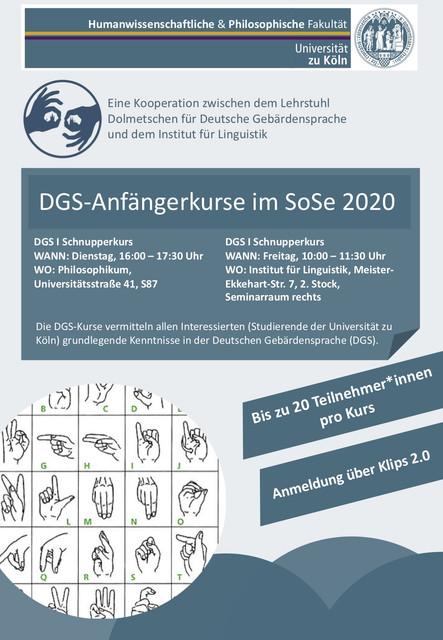 DGS-Schnupperkurse