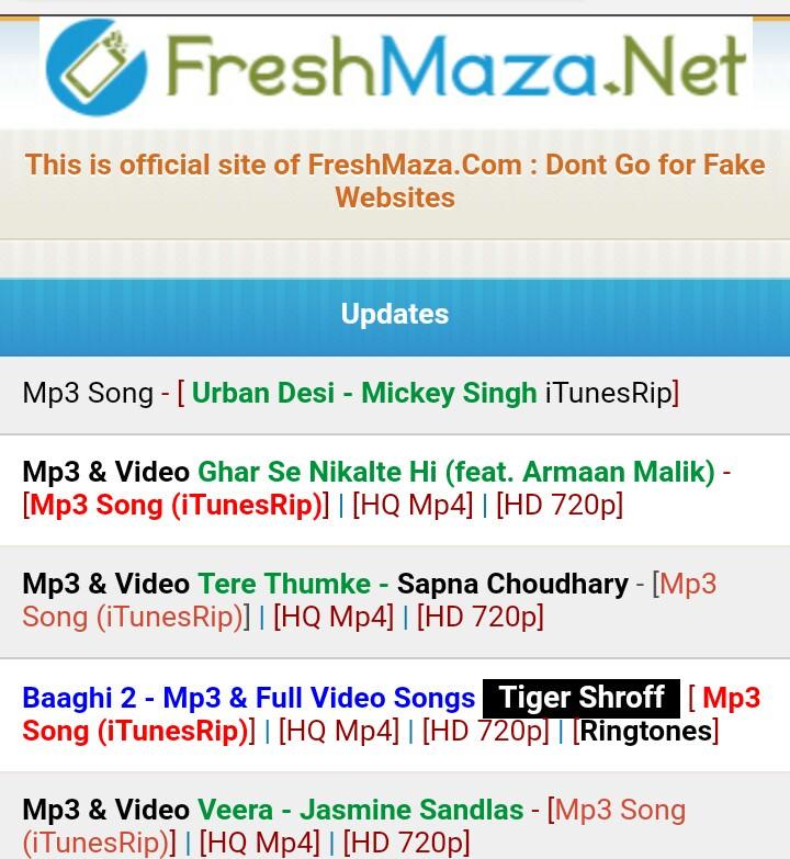 Website CSS Code (Like-FreshMaza.Io) For Wapkiz And Vmwap Site