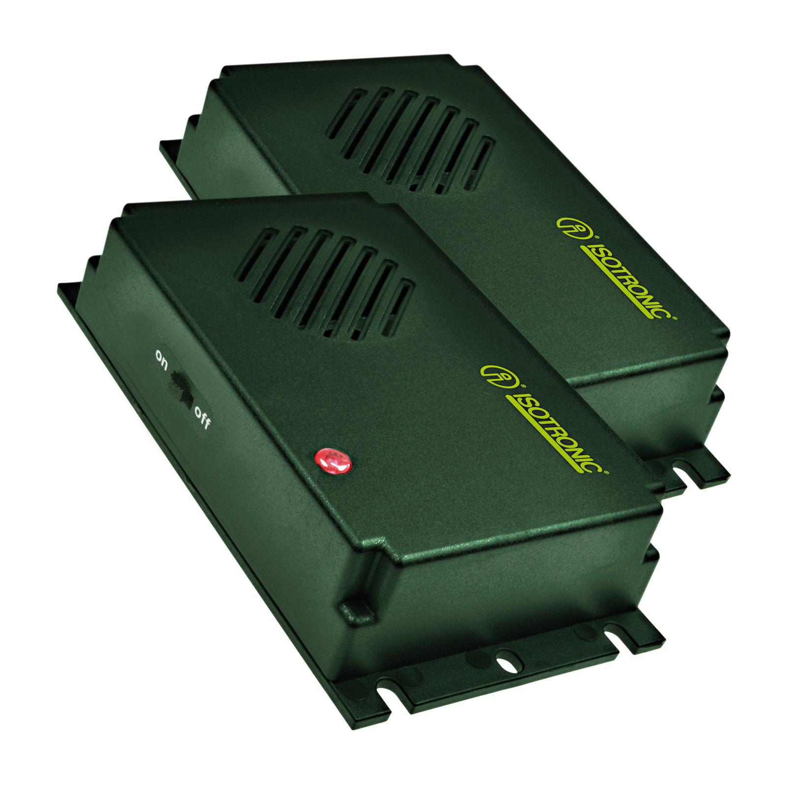batteriebetriebener Hundeschreck /& Katzenvertreiber 2x ISOTRONIC Marderschreck
