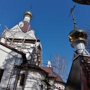 Воздвижение второго купола на Донском храме 24 марта 2020 года