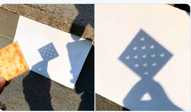 如何用餅乾看到多個日食的影子w Image