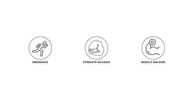 Endurance, and strength and muscle building