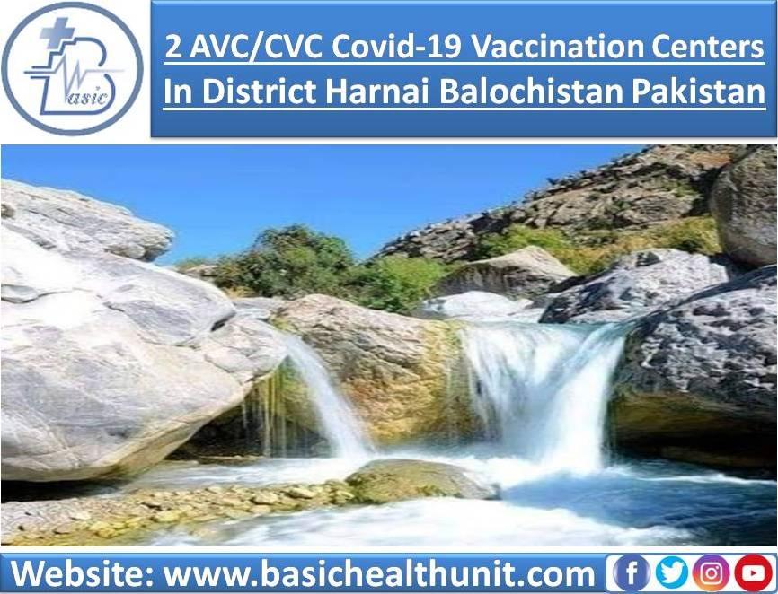 2 AVC/CVC Covid-19 Vaccination Centers In District Harnai Balochistan Pakistan