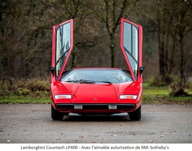 Lamborghini Miura SV et Countach LP 400 «Periscopio» atteignent des prix records à la vente RM Sotheby's Paris 579660-v2