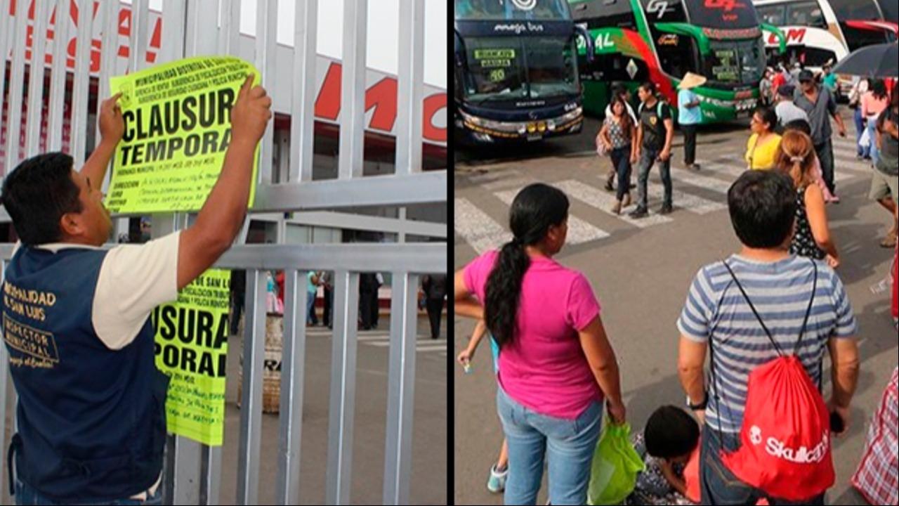 Yerbateros y otros dos terminales terrestres fueron clausurados por municipios