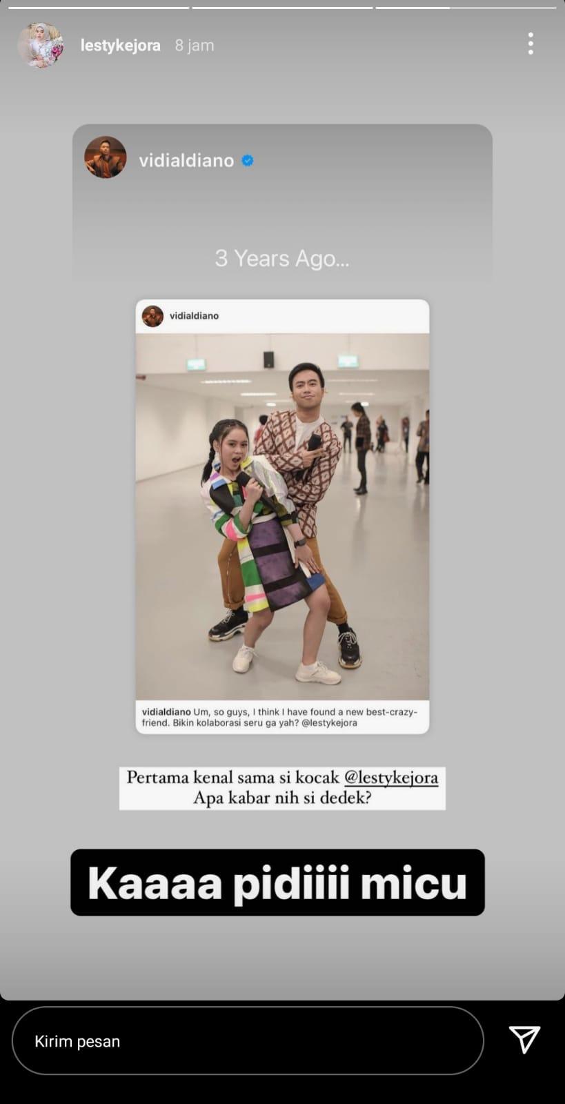 Unggahan Lesti Kejora di Instagram Story