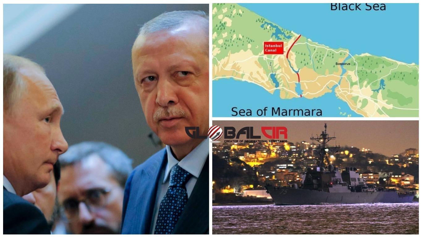 DOK USA NAJAVLJUJU ULAZAK SVOJIH BRODOVA U CRNO MORE! Putin zatražio od Erdogana da sačuva postojeći ugovor za prolazak ruskih ratnih brodova kroz turske moreuze na Crnom moru!
