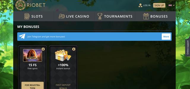 riobet casino bonuses