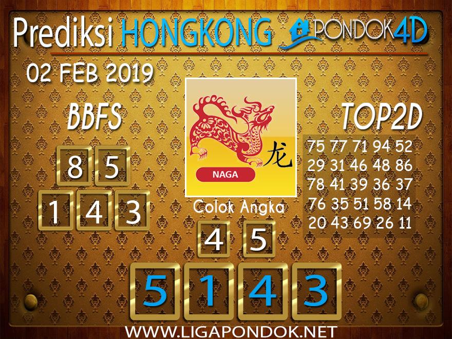Prediksi Togel HONGKONG PONDOK4D 02 FEBRUARI 2019