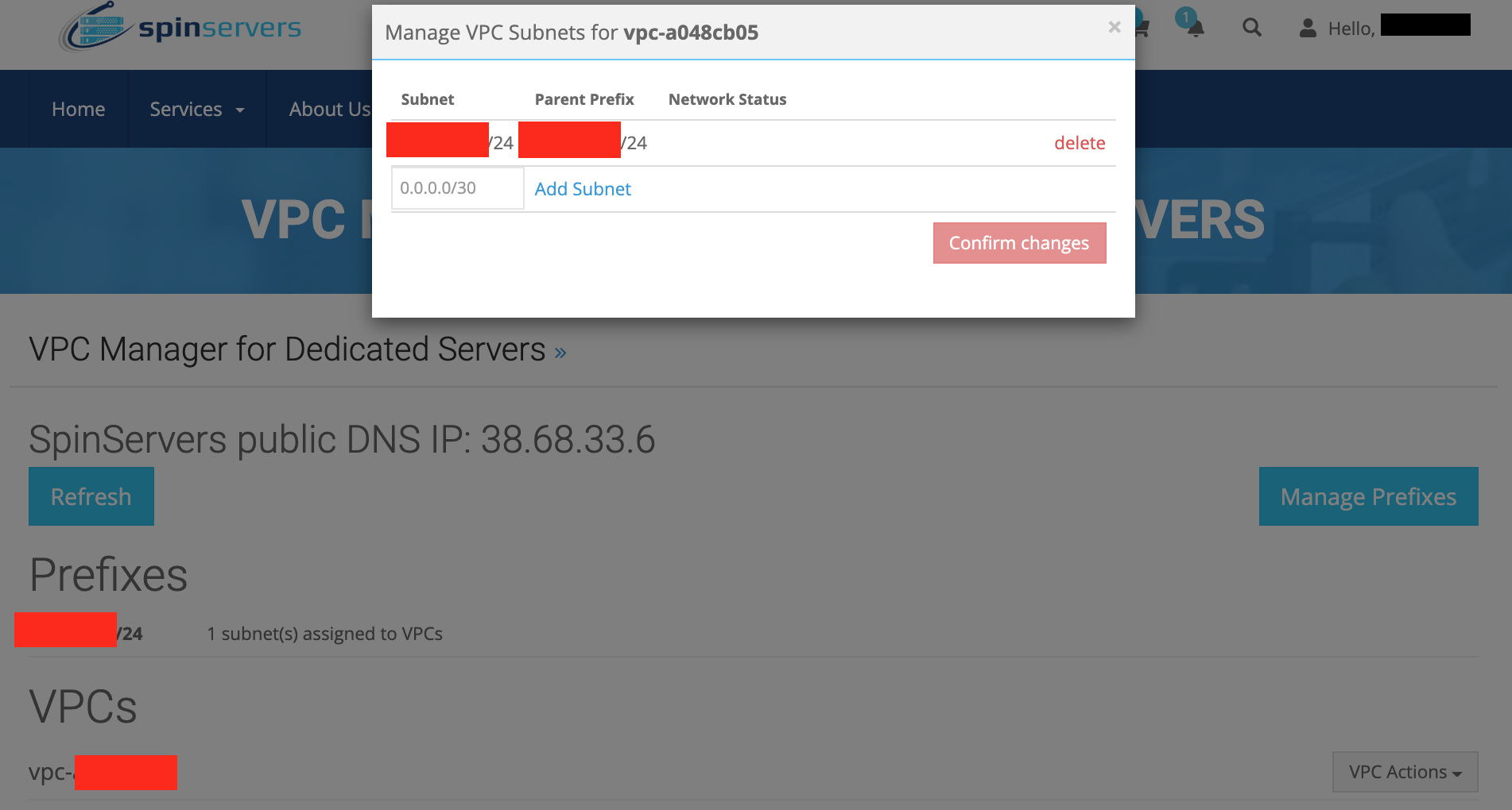Manage VPC Subnets