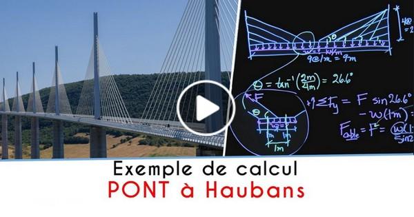 Exemple de calcul - PONT à Haubans