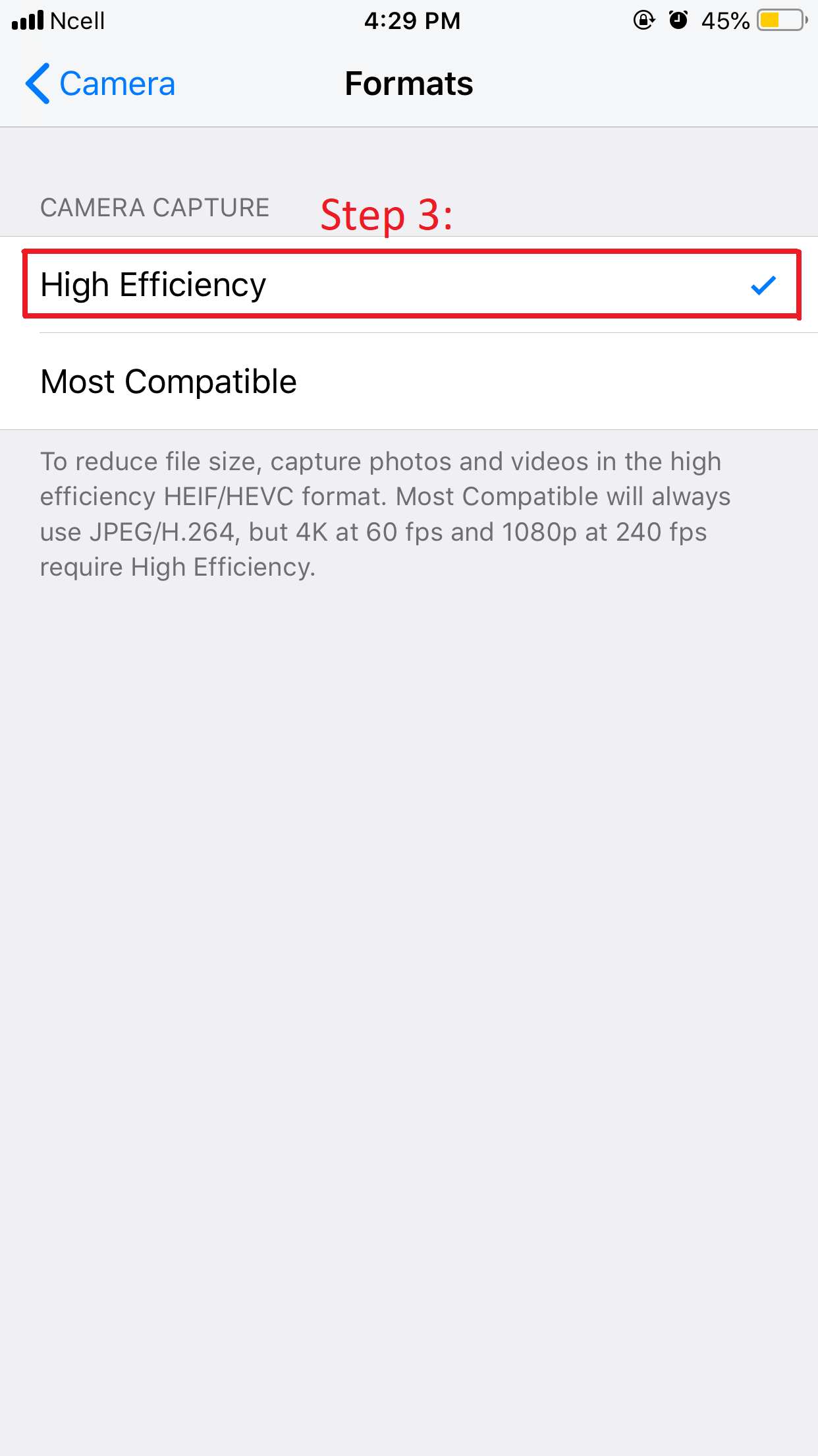 change image format on iphone ios