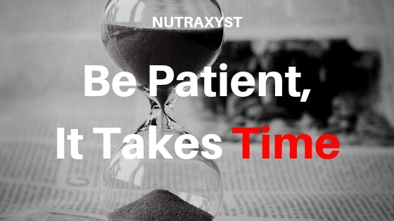 Be patient it takes time. #nutraxyst #musclegrowth #todo #gym #bodybuilding #health #protein #creatine #HGH #IGF-1