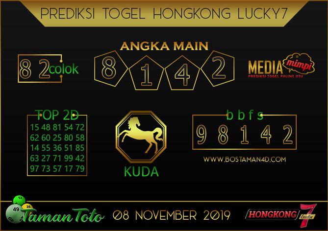 Prediksi Togel HONGKONG LUCKY 7 TAMAN TOTO 08 NOVEMBER 2019