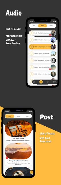 Multimedia and quiz app template