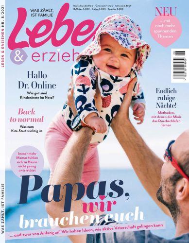 Cover: Leben und erziehen Elternmagazin No 08 2021