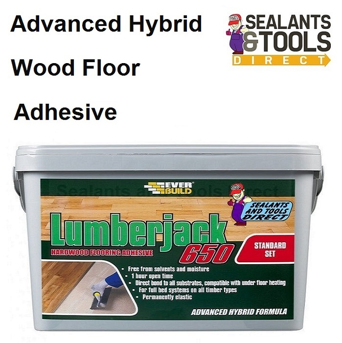 Everbuild Lumberjack 650 Hybrid Polymer Wood Floor Adhesive 14kg