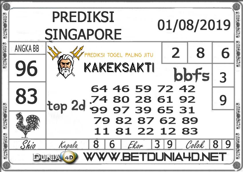 "Prediksi Togel ""SINGAPORE"" DUNIA4D 01 Agust 2019"