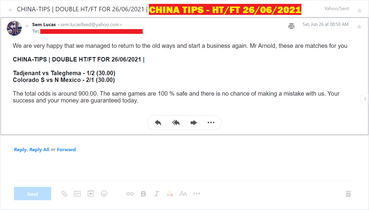 CHINA DOUBLE HT FT FIXED MATCHES FOR 26/06/2021 | BEST DOUBLE HT / FT FIXED MATCHES