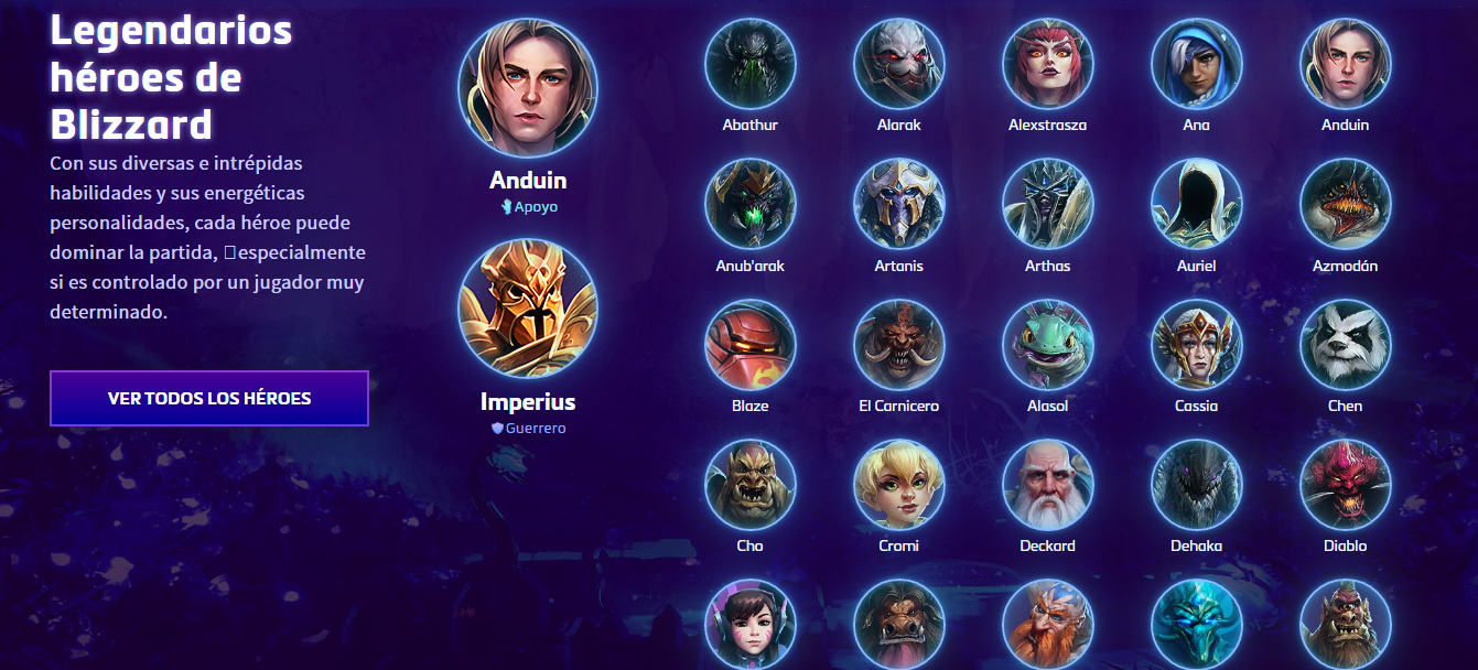 Legendary Blizzard Heroes in Heroes of the Storm