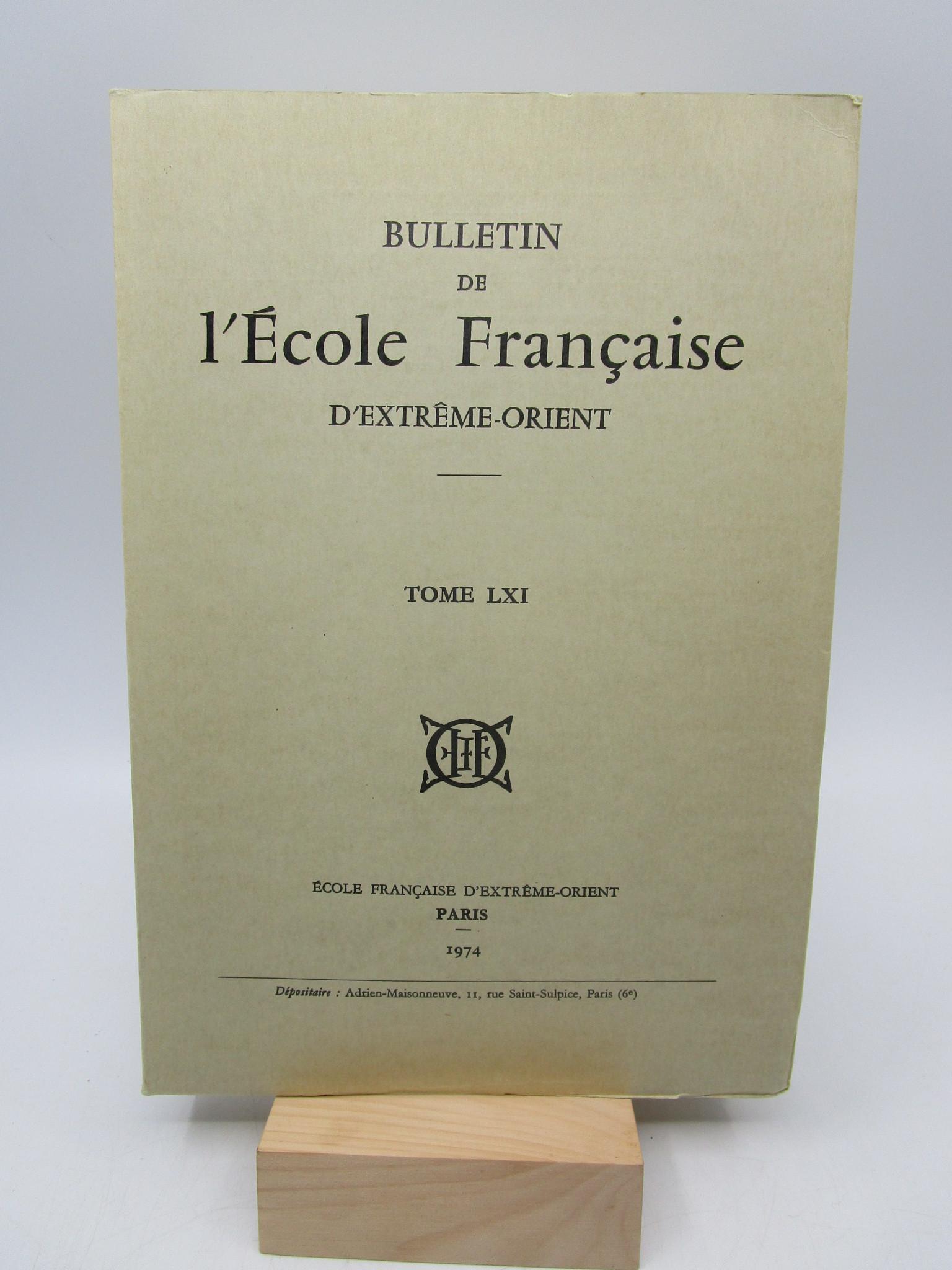 Image for Bulletin de l'Ecole Franaise d'Extrme-Orient, Tome LXI