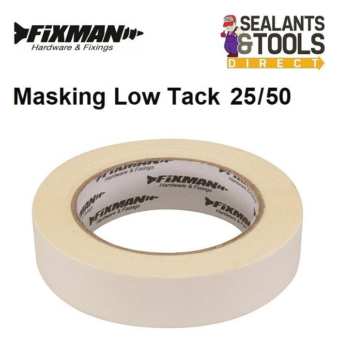 Fixman Masking Tape Low Tack 25mm x 50m 193178