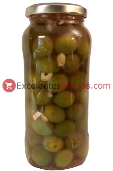 Aceitunas aliñadas con pimentón, aceitunas en tarro