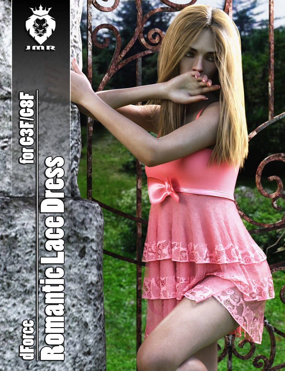 JMR dForce Romantic Lace Dress for G3F and G8F