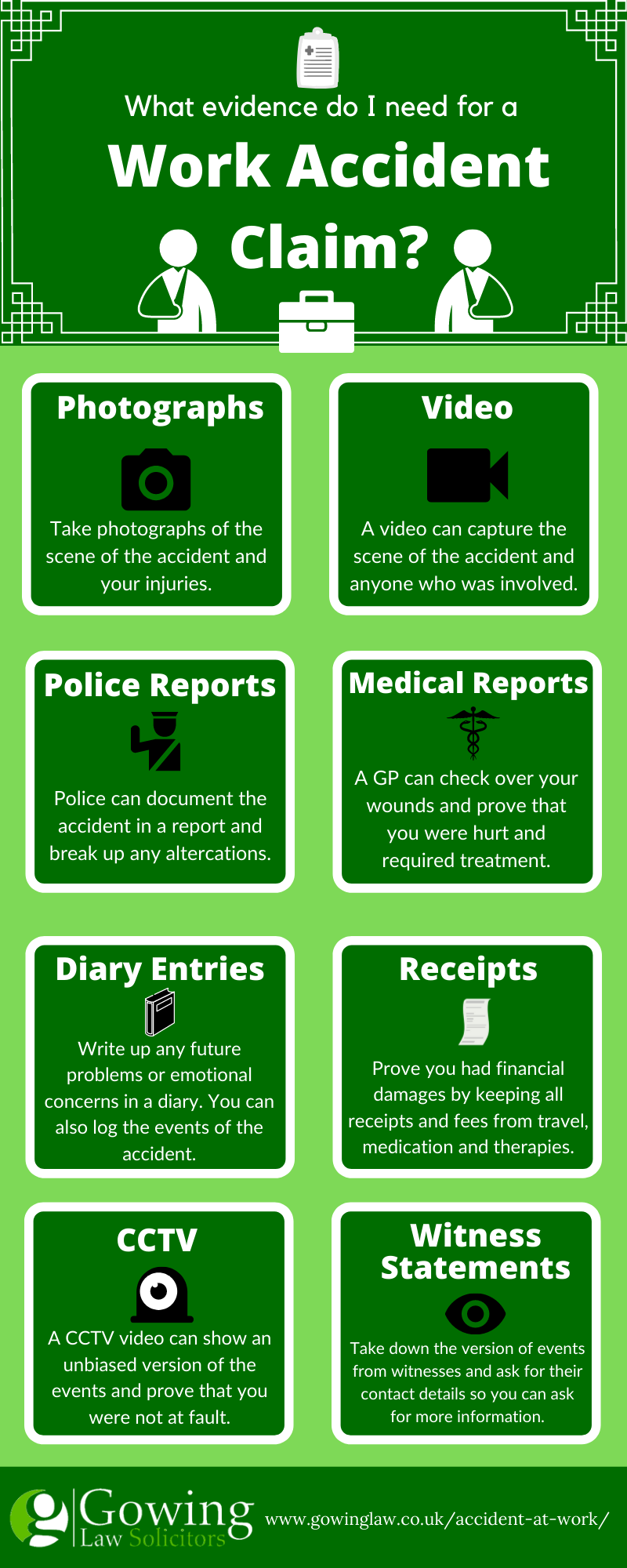 work accident infographic